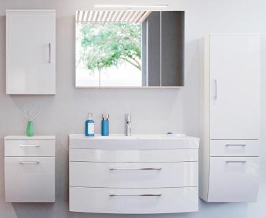 Badmöbel-Set Waschtisch 100 cm Badezimmer Möbel 5 Teile Badset Spiegelschrank