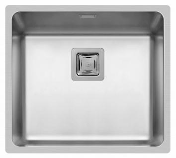 Küchenspüle Lume 49x44 cm Einbauspüle flächenbündig Spülbecken edelstahl Spüle