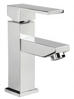Bad Wasserhahn KARO Mischbatterie Messing Chrom Einhand Waschtischarmatur *0418