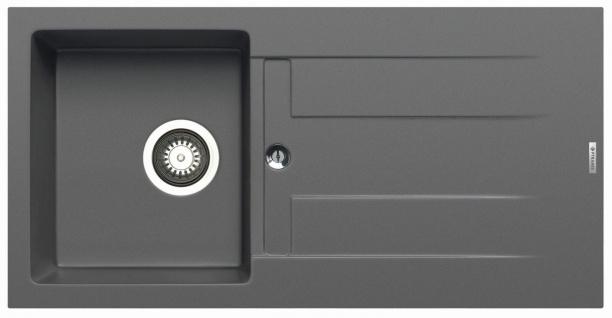 Küchenspüle 86x43, 5 cm Einbauspüle Athlos mit Hahnloch Spülbecken modern Spüle
