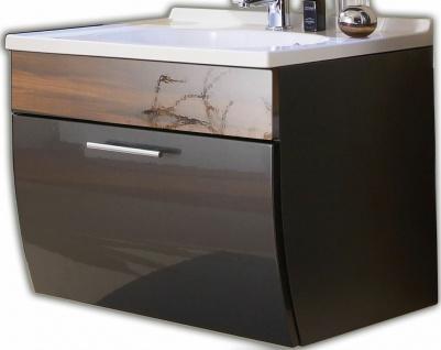 Waschplatz 70 cm Gäste Bad WC Schublade Softeinzug Mineralgussbecken *5601-85
