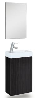 Waschplatz 40 cm Selina mit Spiegel Pinie-Anthrazit Waschtisch Gäste Bad *91202