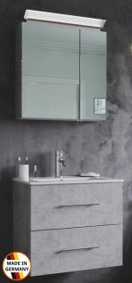 Waschplatz Homeline 60 cm mit LED Spiegelschrank Gäste Bad Badmöbel Waschtisch