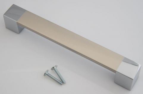Design Kommoden Möbelgriff BA 160 mm BiColor Schrank Schubladen Küchengriff *646