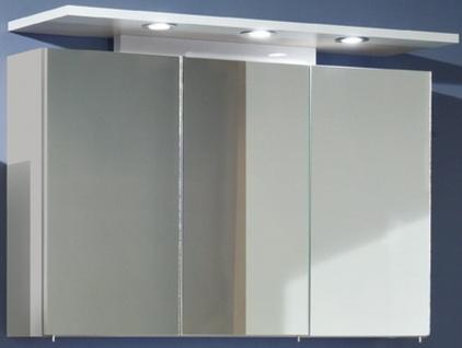 LED Spiegelschrank 100 cm Strahler 3 x 1, 8 W Schalter Steckdose IP21 *ZL83212