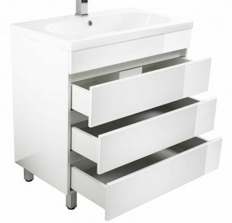 Waschtisch 70 cm stehend Mineralgussbecken Gäste Waschplatz Standmöbel *KALI70