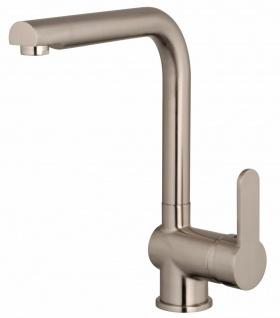 Küchenarmatur Edelstahloptik Wasserhahn Spültischarmatur Einhandmischer *1024