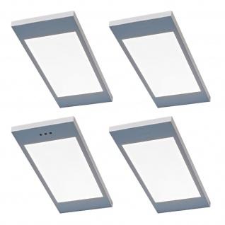 4-er Set LED Küchen Unterbauleuchte SANTO 3, 5 W dimmbar Warmweiss Licht *567812