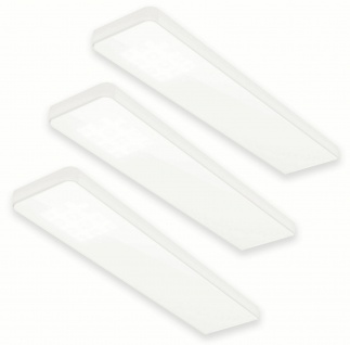 3-er Set LED Küchen-/Unterbauleuchte 3 x 5 Watt Konverter Sensor Dimmer *555079