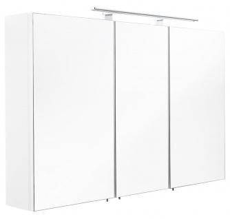 LED Spiegelschrank 110 cm Weiss 6500K Badspiegel Schalter Stecker Kombi *5439-76 - Vorschau 3