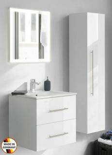 Badset Homeline Waschplatz 60 cm Keramikbecken Badspiegel 3 Teile Badmöbel-Set