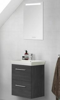 Waschtisch 50cm LED Spiegel Porzellanbecken Gäste WC Waschplatz montiert *011730