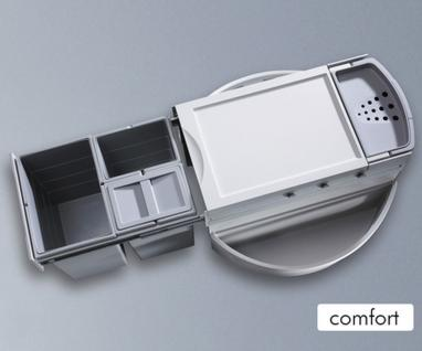 Hailo Rondo Comfort 40 Liter Küchen Abfall 3-fach Mülleimer Selbsteinzug *47311