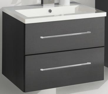 Waschplatz 60 cm Waschtisch Becken Kosmetikeinsatz SoftClose Gäste WC *WP-Ram-60