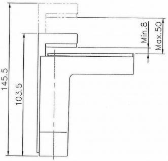 Regalbodenhalter Regalbodenträger 8-50 mm Edelstahl Optik Regalhalter *506-07 - Vorschau 4