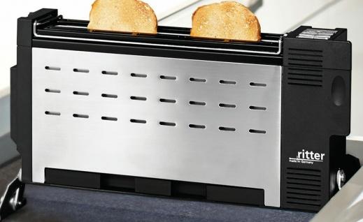 Einbau-Toaster Ritter ET 10 Edelstahl Langschlitztoaster Schublade 30 cm *532612