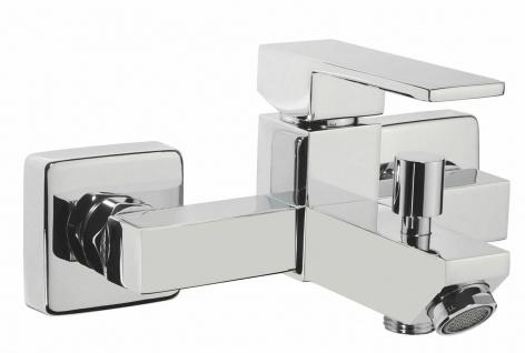 Badewannenarmatur modern Wasserhahn eckig Einhandmischer Duscharmatur Karo *0419
