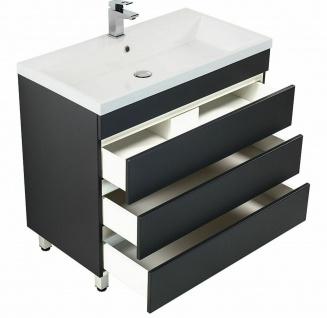 Waschtisch 91 cm stehend Waschbecken Waschplatz Badmöbel Standmöbel 3 Schubladen