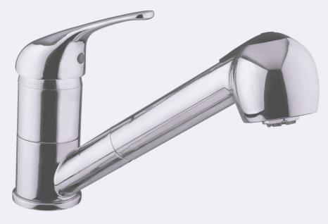 Einhand Küchenarmatur Edelstahloptik Wasserhahn KAPPA Hand Geschirrbrause *0511