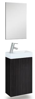 Waschplatz Selina Spiegel 40 cm Pinie Anthrazit Gäste-Bad WC Waschtisch *91202