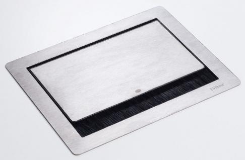 EVOline FlipTop Push S Einbau Küchen Schreibtisch Steckdose Edelstahl *558292