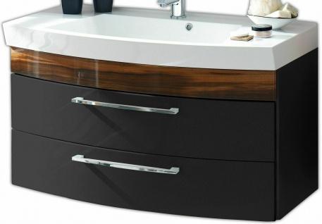 Waschplatz 100 cm Waschtisch Rima 2 Schubladen Softeinzug Waschbecken *5870-85