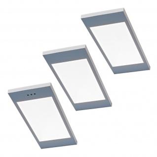 3-er Set LED Küchen Unterbauleuchte SANTO 3, 5 W dimmbar Warmweiss Licht *567805