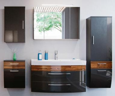 Badmöbel-Set 5 Teile Badset Rima Waschplatz 100 cm + Waschbecken Spiegelschrank