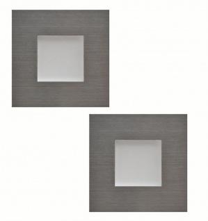 LED Sockelleuchte eckig Einbauleuchte Karo Edelstahl 2 x 0, 35 W warmweiß *543410