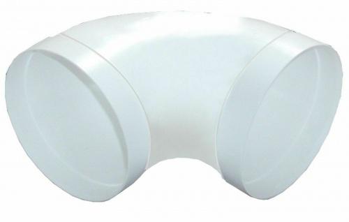 Rundrohr Ø 150 mm Abluft 90° Bogen gestreckt Lüftungsbogen mit Muffen *528578
