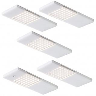 5-er Set LED Küchen Unterbauleuchte 5 x 4 W Sensorschalter Dimmer Lampe *549061