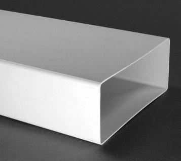 Flachkanal Abluft 220x90 mm ohne Muffen Lüftungsrohr 100 cm Abzugshaube *50350