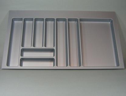 Schubladen Küchen Besteckeinsatz Teck 100 cm Besteckkasten zuschneidbar *44577