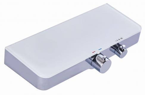Thermostat Armatur Duscharmatur 350 x 140 mm Brausethermostat Glasablage *0842