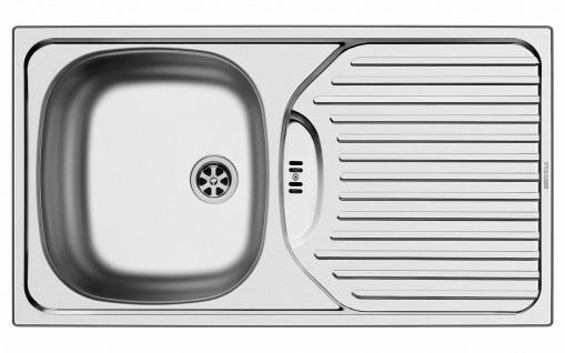 Pyramis Edelstahl Küchenspüle 78x43 cm Einbauspüle Campingspüle ET78 *100139412