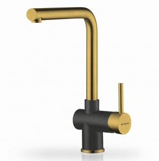 Spültischarmatur Mandolin Einhebelmischer moderne Küchenarmatur gold *090928403