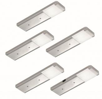 5-er Set LED Küchen Unterbauleuchte FJONA 5 x 2, 5 W Masterschalter Licht*556380