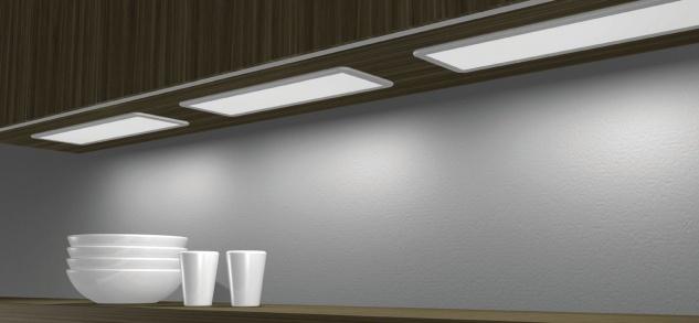 LED Panel Unterbauleuchte Küche 600 x 200 x 80 mm LIDO 15 W Warmweiß ...