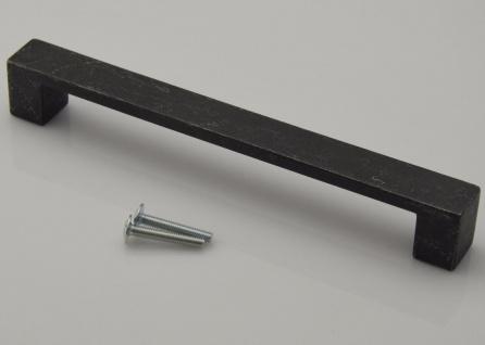 Kommoden Möbelgriff BA 160 mm Schrank Tür Küchengriff Schwarz marmoriert *668