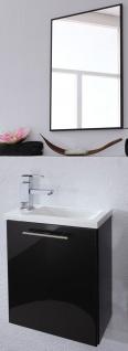 2 Teile Handwaschplatz Waschbecken Badset 40 cm Gäste Bad WC Badspiegel *2003