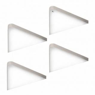 LED Unterbauleuchte Küche 4x5 W Dreieckleuchte Unterbaulampe mit Dimmer *571482