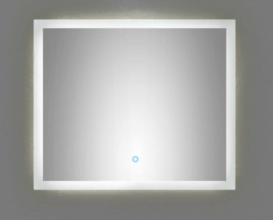 LED Badspiegel 70x60 cm Touch Bedienung 22 Watt warmweiss 120 LED/Meter *7060
