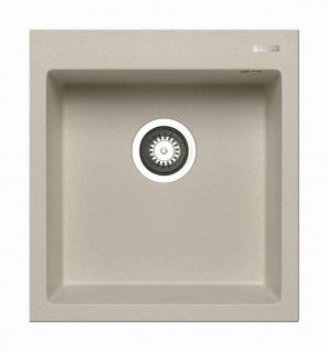 Küchenspüle 46x50 cm Spülbecken beige moderne Einbauspüle Istros 1 Becken Spüle