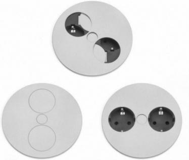 1 Einbau-Steckdose Küchensteckdose TWIST Kinderschutz Edelstahl Optik *540273