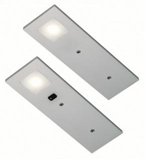 LED Unterbauleuchte Küche 2x3, 5 W dimmbar neutralweiß Sensorschalter *555345