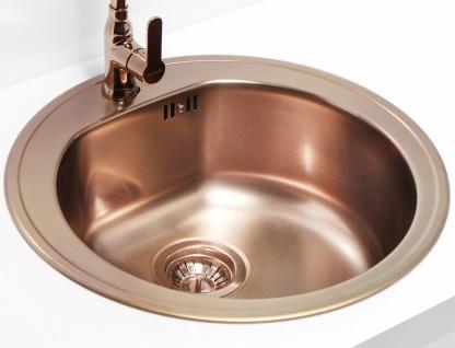 Alveus Einbauspüle Ø 510 mm Rundbecken Küchenspüle Spüle Kupfer Becken *1070807 - Vorschau 5