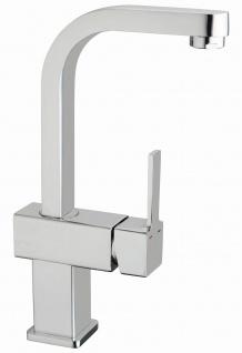 Waschtischarmatur mit hohem Auslauf Badarmatur eckig Waschbecken-Armatur *8940