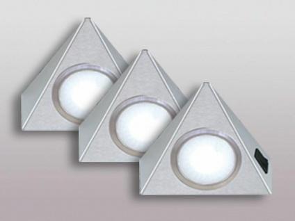 3-er Set LED Unterbau Küchenleuchte warmweiss je 3, 5 Watt Dreieckleuchte *543663