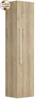 Badezimmer Hochschrank Homeline Badschrank 35x150 cm Seitenschrank eiche hell