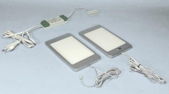 LED Unterbauleuchte mit Schalter Unterbaulampe Küche 2x6 W neutralweiß *30657